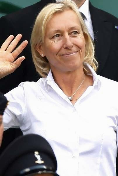 Happy Birthday to the only truly eloquent and divinely gifted conscience of America...Martina Navratilova