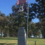 Image for the Tweet beginning: The Veterans Memorial Dedication at