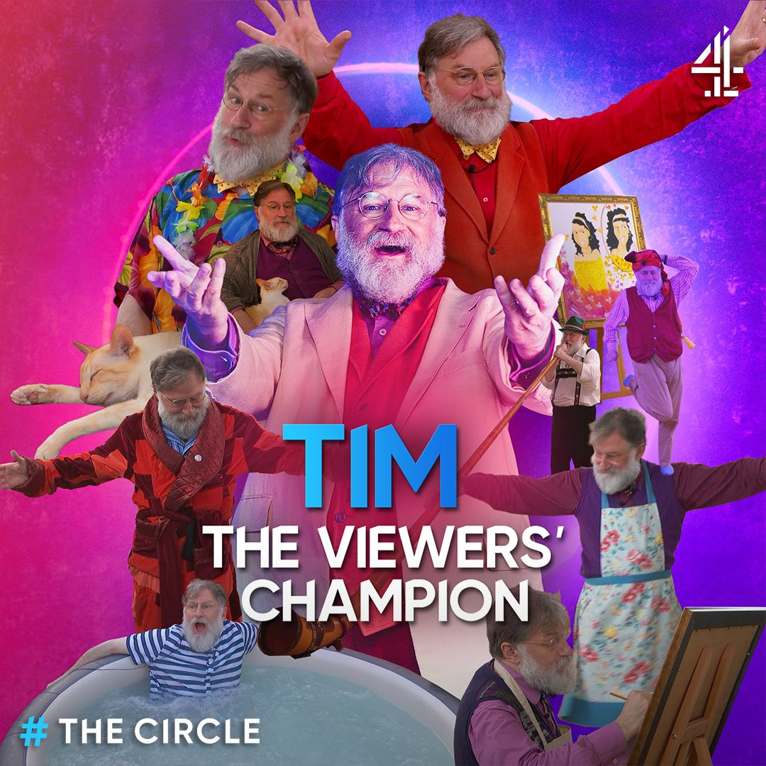Professor, goat herder, monk, Viewers Champion of #TheCircle 2019. Tims list of accolades just gets better and better! 👏 #TheCircleFinal