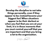 Image for the Tweet beginning: Develop the discipline to not