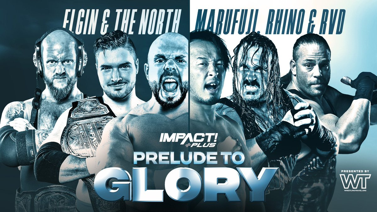 #PreludeToGlory presented by @WrestlingTravel is LIVE NOW on @IMPACTPlusApp!   30-Day Free Trial: https://t.co/9F0lXlvfyu https://t.co/5KfiAMRsYb