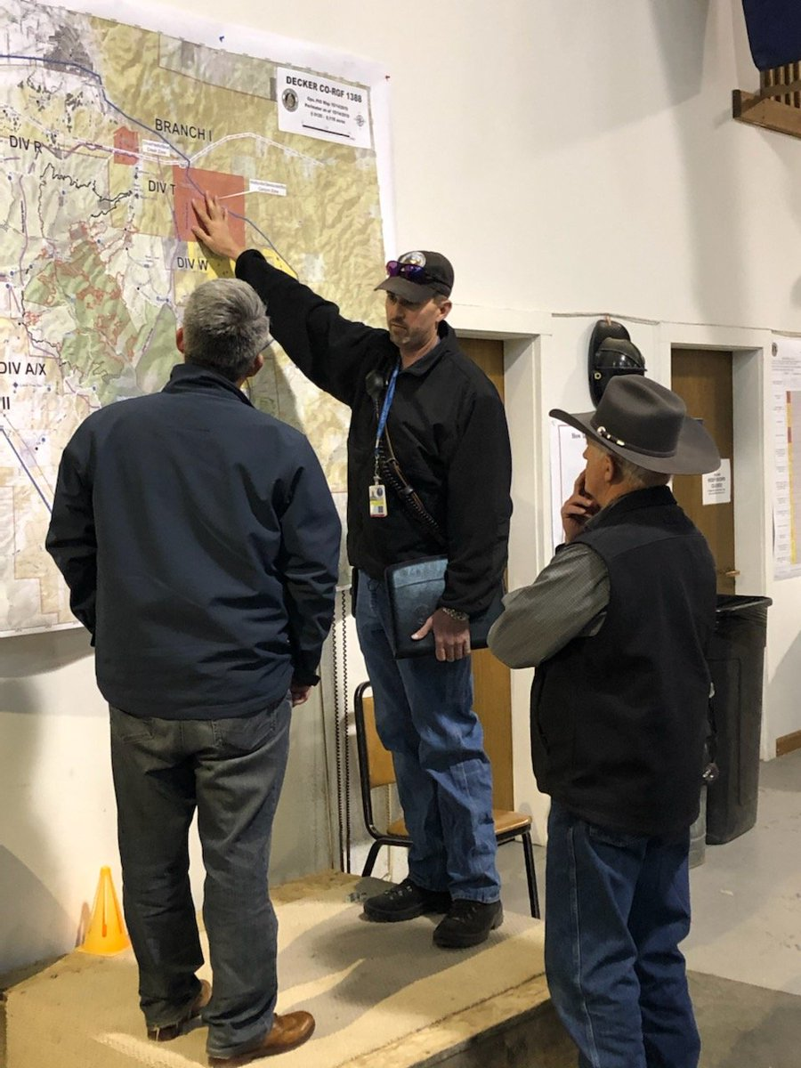 I received a briefing on the Decker Fire today in Poncha Springs from local officials and firefighters on the front lines. We also discussed future recovery efforts. Thanks to everyone who is working around the clock to manage the fire and keep Colorado residents safe.