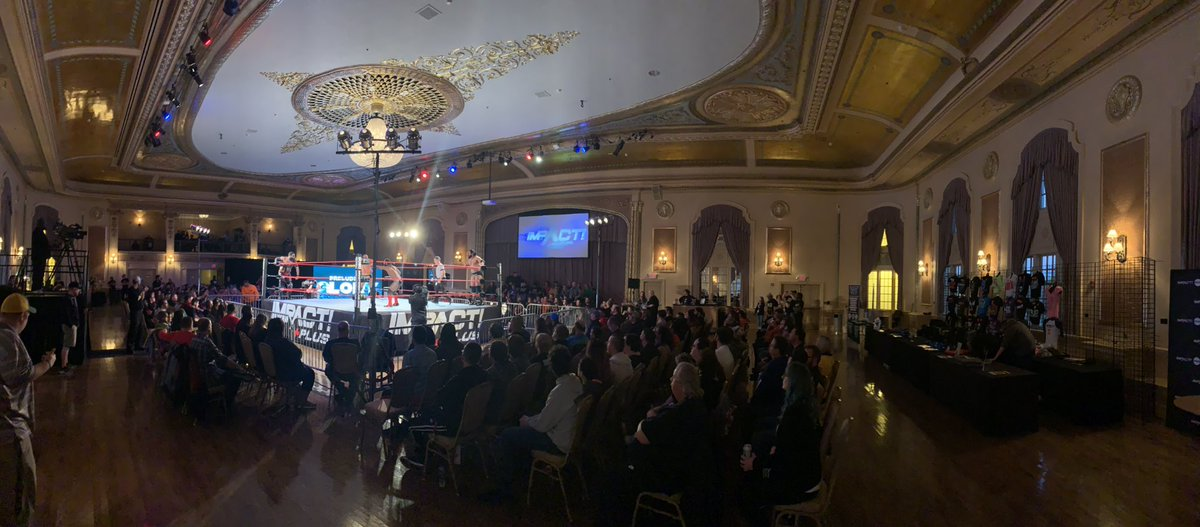 A national wrestling company hasn't been to South Bend since 1999.  We have what appears to be a sell out/capacity crowd for #PreludeToGlory. I'm so damn proud. Thank you to @realjoshmathews, @ScottDAmore, and the entire @IMPACTWRESTLING.  I love my hometown. https://t.co/kOcdpo4j97