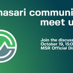Image for the Tweet beginning: The $MSR community meetup is