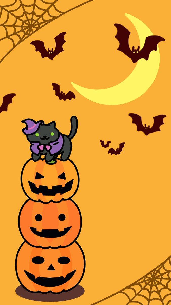 ちきちゃん On Twitter ねこあつめ 壁紙 Halloween Ver 説明 1