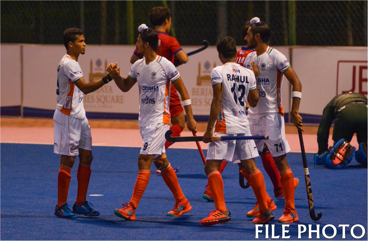 #Indian junior men's hockey team to clash with #Britain in the final of 9th Sultan of Johor Cup in Malaysia today.   #IndiaKaGame #SultanOfJohorCup #SOJC<br>http://pic.twitter.com/DrC6Q16QGH