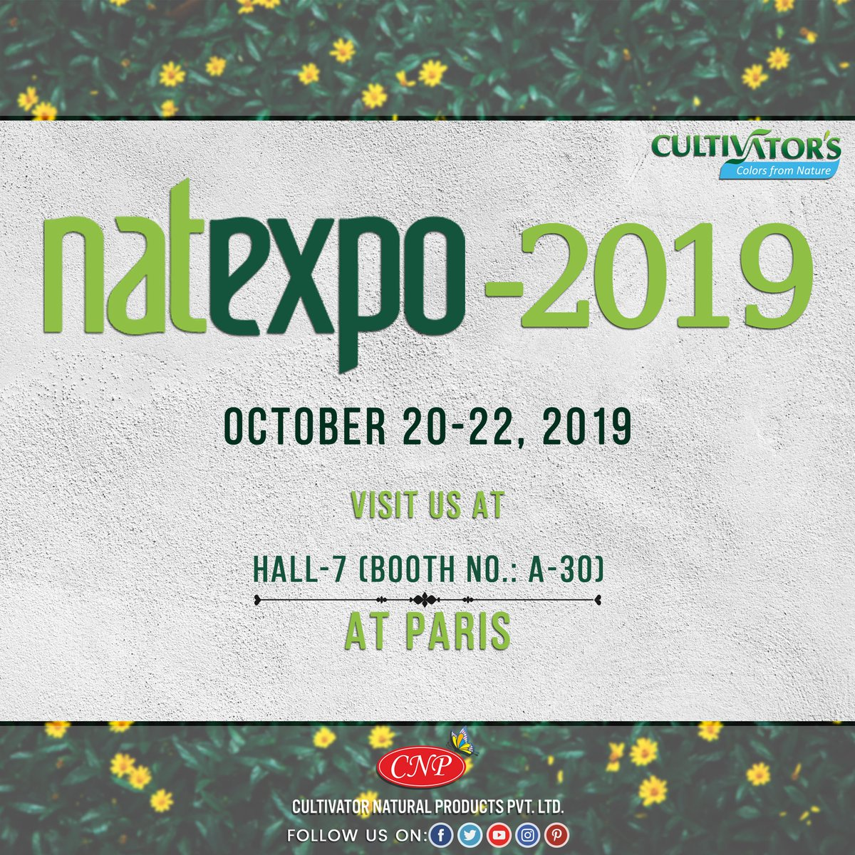 [INVITATION EXCLUSIVE📜]  . 🌿If you are going to the Natexpo trade show in Paris this weekend, kindly visit us at Hall 7 booth no. A-30,😇 We would love to share precious time with you all and to make you all discover the best ORGANIC products!😎 . The honor of your presence is requested!!🤩 . See ya!🥳 . . #natexpo2019 #organictradeshow #tradeshow #paris #organic #organicproducts #haircare #fashion #happyday