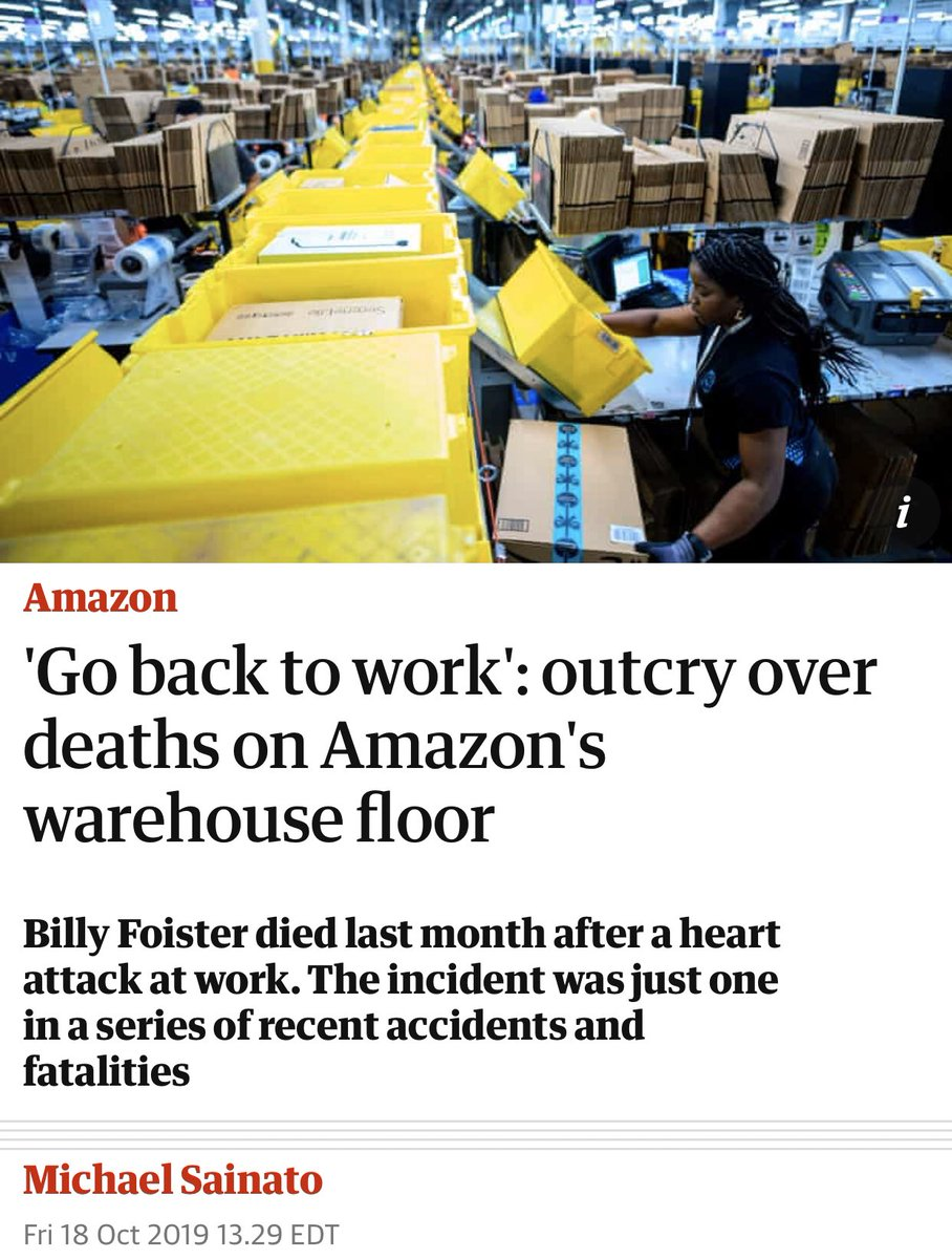 Amazon is the dystopia of 20th century fiction made manifest. <br>http://pic.twitter.com/qjKq7mJK6C