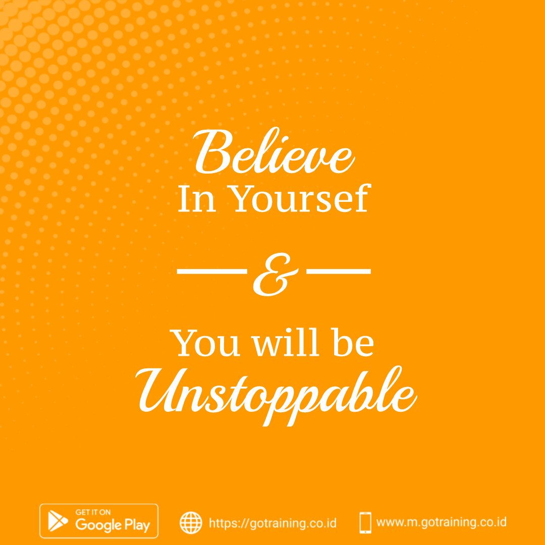 Believe in yourself & you'll be unstoppable ...  #MondayMood #mondaythoughts #MondayMotivation #SaturdayMotivation #SaturdayThoughts #SaturdayVibes #seninsemangat #KuotaTanpaKhawatir #3KataBuatMantan #TokopediaxJungkook #TokopediaSaja #SelasaSambat #JumatBerkah #jumatmubarakah<br>http://pic.twitter.com/UcDsay9To1