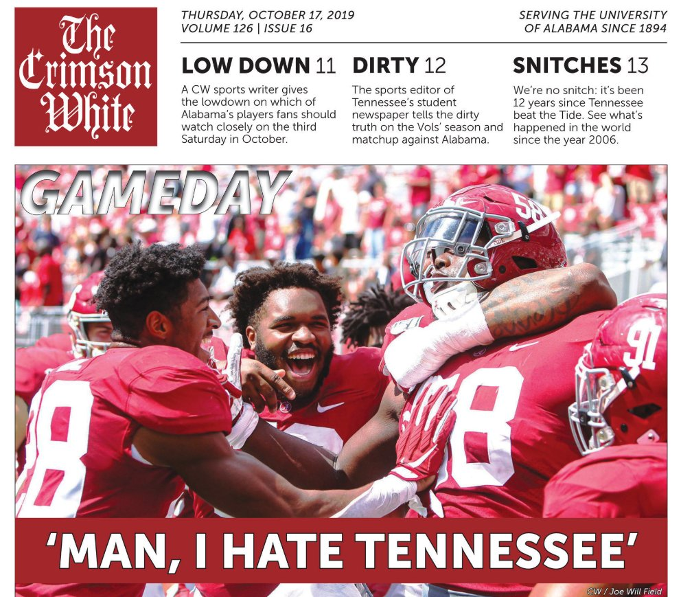 Looks like Alabama is ready for the Third Saturday in October 😳