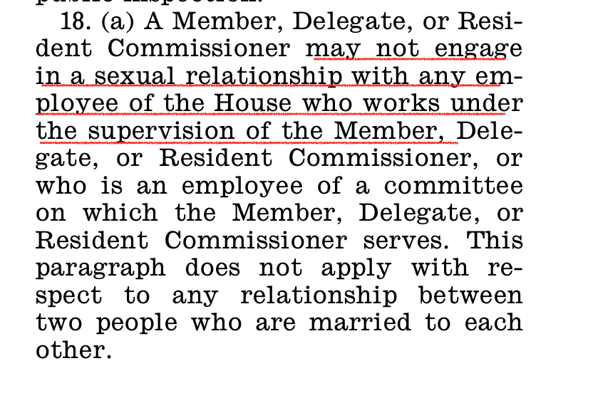 . @SpeakerPelosi your OWN rules for 116th Congress clearly state no Member may engage in a sexual relationship with any employee who works under their supervision. Why are you allowing @RepKatieHill to sleep with her staff?? #ResignKatieHill naturalresources.house.gov/imo/media/doc/…