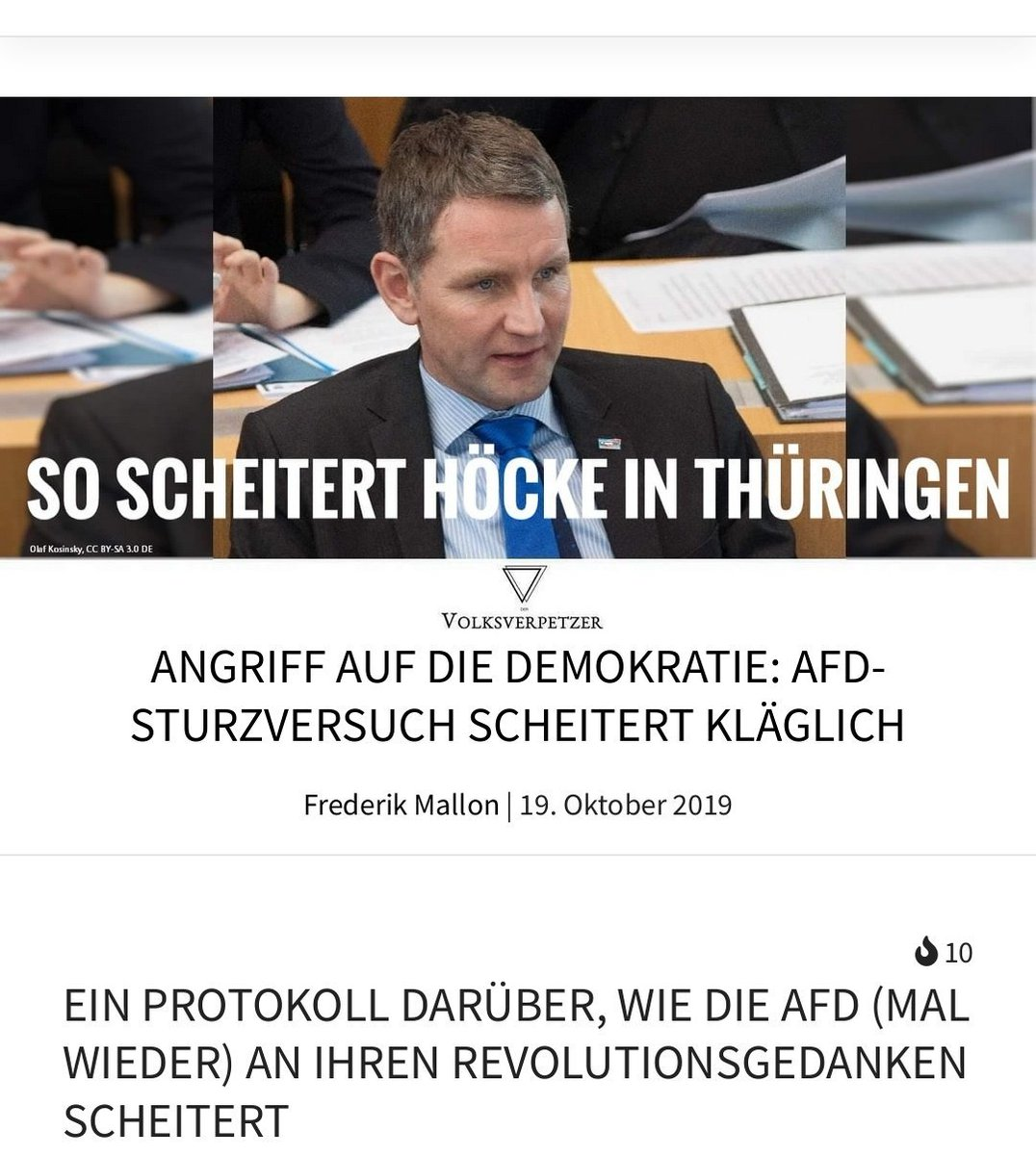 https://www. volksverpetzer.de/politik/demokr atie-gegen-rechts/  …   Lesenswert  #noafd #afdwirkt #gegenrechts #nonazis #nonazisdo #sogafd #fckafd #fckNazis #nazisraus  #afdverbot #kreuzacht #riegel_vor #Thueringen<br>http://pic.twitter.com/JAjUOe2vTu