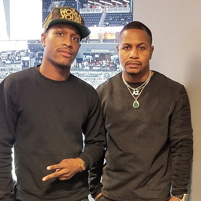 At the Nets game wit my son Amar., The Rookie and the Vet., <br>http://pic.twitter.com/kf8IoYi3iR
