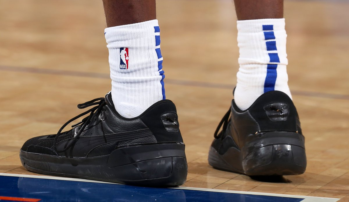 RJ Barrett with the blacked out PUMAs