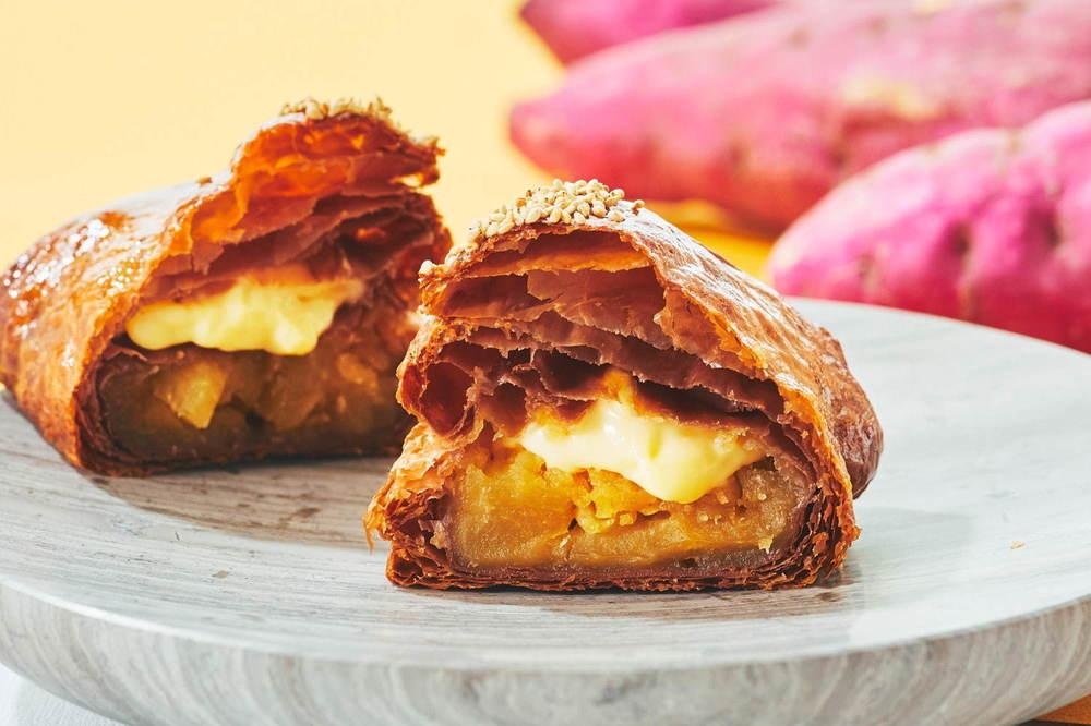 アップルパイ専門店RINGOの限定「焼きたてカスタードお芋アップルパイ」林檎フィリング×お芋ペースト -