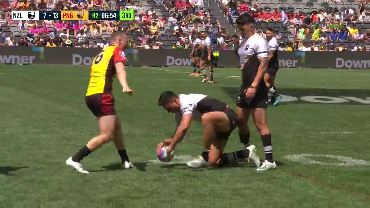 JMK grabs his first try at the #RLWC9s  #proudtobeabulldog
