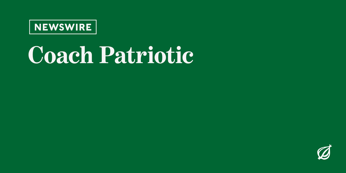 For more world-renowned reportage, visit http://theonion.com.
