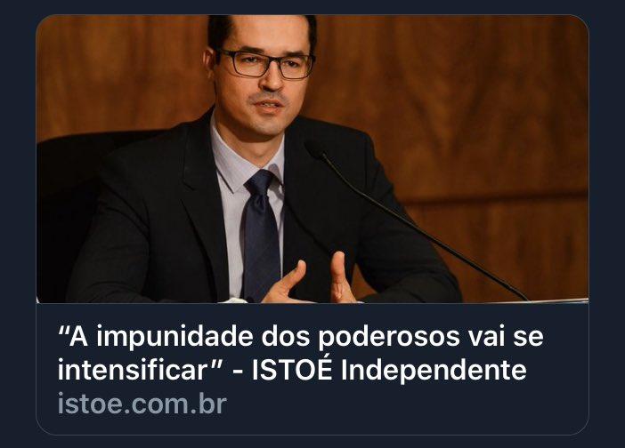 Deltan finge que não entende que os poderosos com impunidade são ele e Sergio Moro.