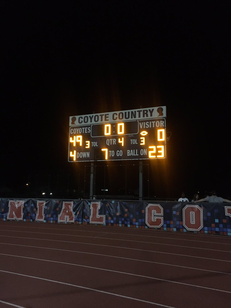 Your final score for the Centennial vs Ironwood game.