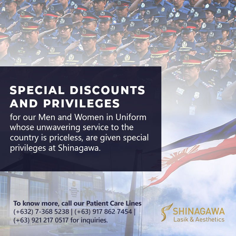 Men and women from PNP & AFP, whose unwavering service to the country is priceless, are given special privileges at Shinagawa.