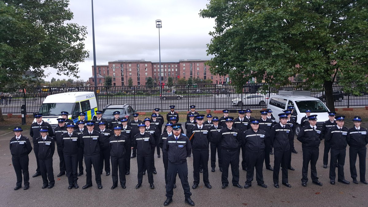 Our @MerseyPolice Cadets on parade today at HQ looking smart and feeling proud.
