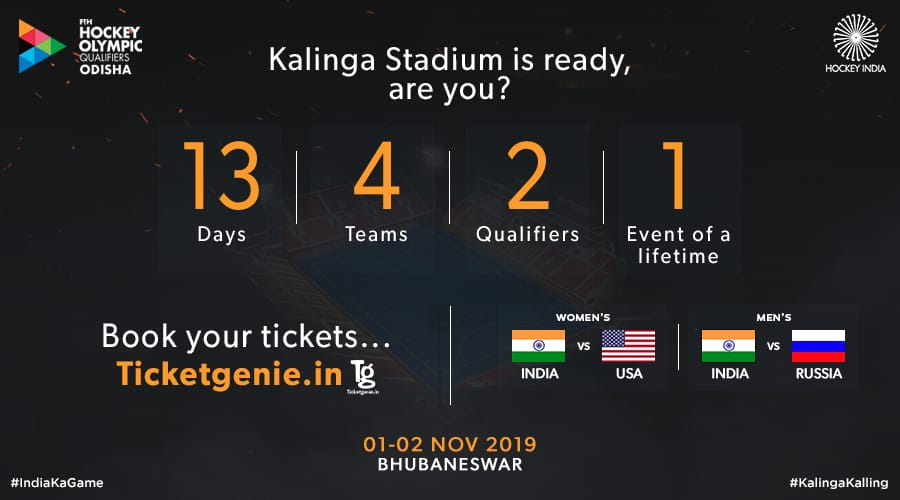 The countdown begins.13 days to go for the FIH HOCKEY OLYMPIC QUALIFIERS ODISHA.  Witness our #EVES in action for the first time at the #KalingaStadium. Are you ready to cheer #TeamIndia ? #IndiaKaGame #RoadToTokyo #KalingaKalling #Olympics2020<br>http://pic.twitter.com/sCpPe0o9n9