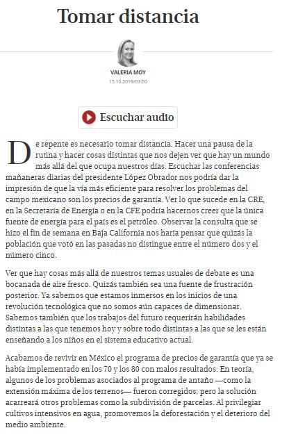 Escuchar las conferencias mañaneras diarias del presidente López Obrador nos podría dar la impresión de que la vía más eficiente para resolver los problemas del campo mexicano son los precios de garantía : @ValeriaMoy http://ow.ly/77Gp30pILUC