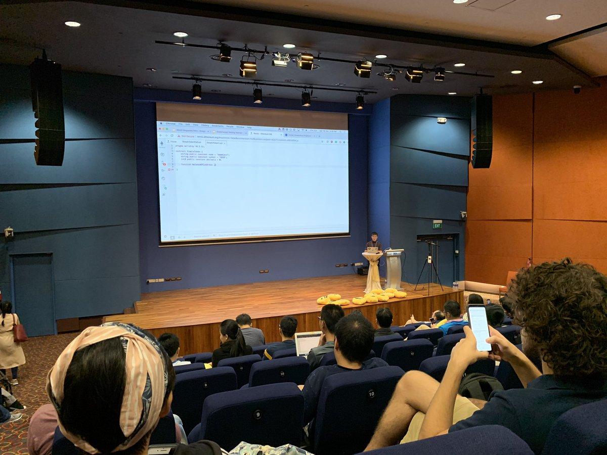 wow, I'm at @geekcamp!