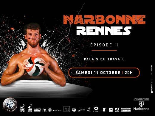 #LAM @LNVofficiel #J03 : le @narbonnevolley reçoit @RennesVolley35 ce soir (20h)...