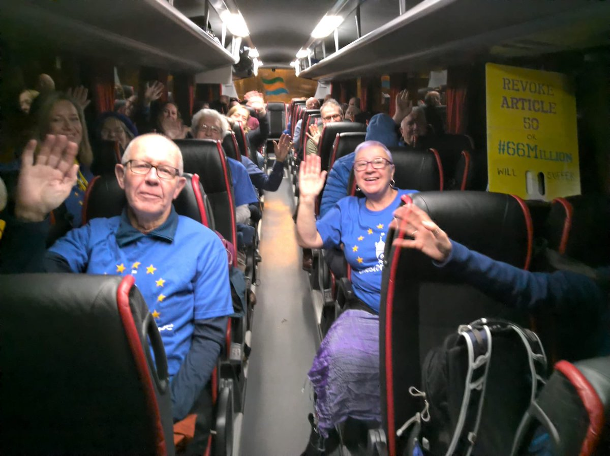 We are off!  Our #PVroadtrip has started in the early hours.  We are off to London on a #PeoplesVoteMarch and we want Parliament to know it's only fair we should get a final say when it's our lives which will be affected.  #PeoplesVote #SaturdayMorning <br>http://pic.twitter.com/ko8zZ95I1d