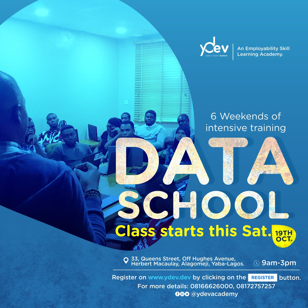 It starts today! Transition into a career with guaranteed in-demand job opportunities. Learn 21st skills needed to scale up in your current career. Sign up now #ydevacademy #dataschool #datascience <br>http://pic.twitter.com/6QKbgfw6DJ