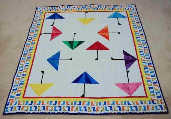 #rainydays and #Monday won't get you down!  Check out this #Bright & #Fun #modern #Quilt.  Great for #mom #teens #Baby or #Toddler #HandmadeQuilt #Anniversary #holidays https://buff.ly/2MWlxs5