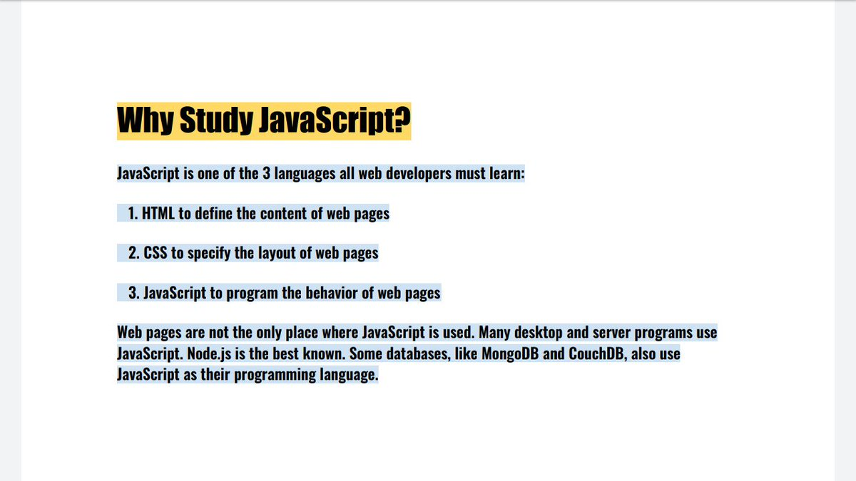 Why study JavaScript? #webdevelopers #webdevelopment #webdesigning #javascript<br>http://pic.twitter.com/CIeT5RYN3l