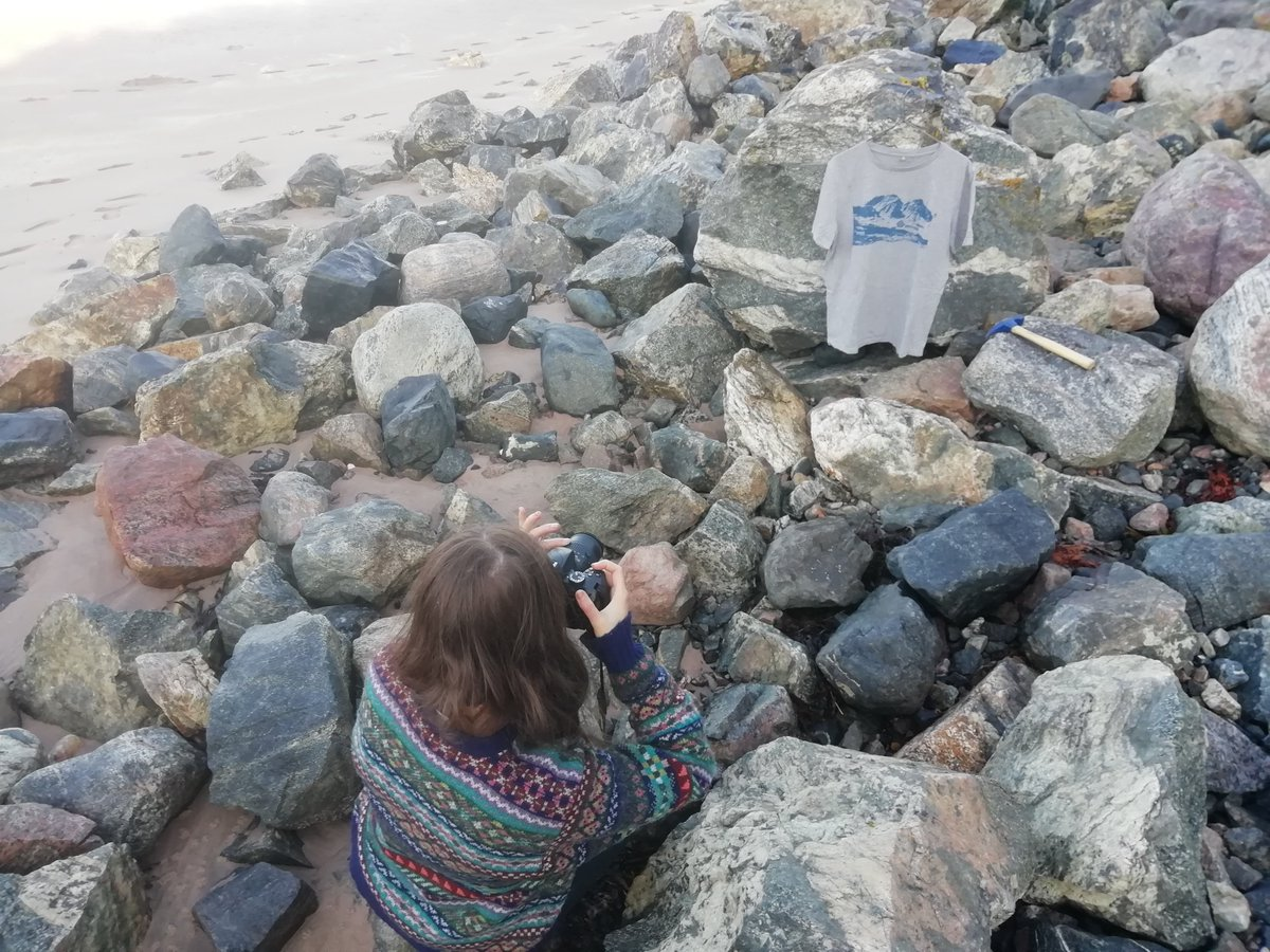 Sneak peak into some new photos coming soon - Outcrop Tees in there natural habitat!  http://www.outcrop.teemill.com  #Geology #Outcrop #PHOTOS #PhotoShoot #Beach #Rocks #Lewisian #Bolders #Pictures #Products #Tshirts #BehindtheScenes #Jumper #Shetland #Fairisle @JamiesonsofShet