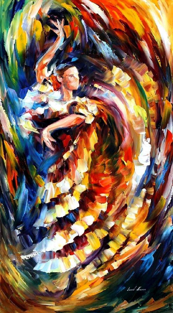 PASSIONATE FLAMENCO - PALETTE KNIFE Oil Painting On Canvas By Leonid Afremov https://afremov.com/passionate-flamenco-palette-knife-oil-painting-on-canvas-by-leonid-afremov-size-36-x20.html… #colorful #contemporarydrawing #wallartonline #artworksinsta
