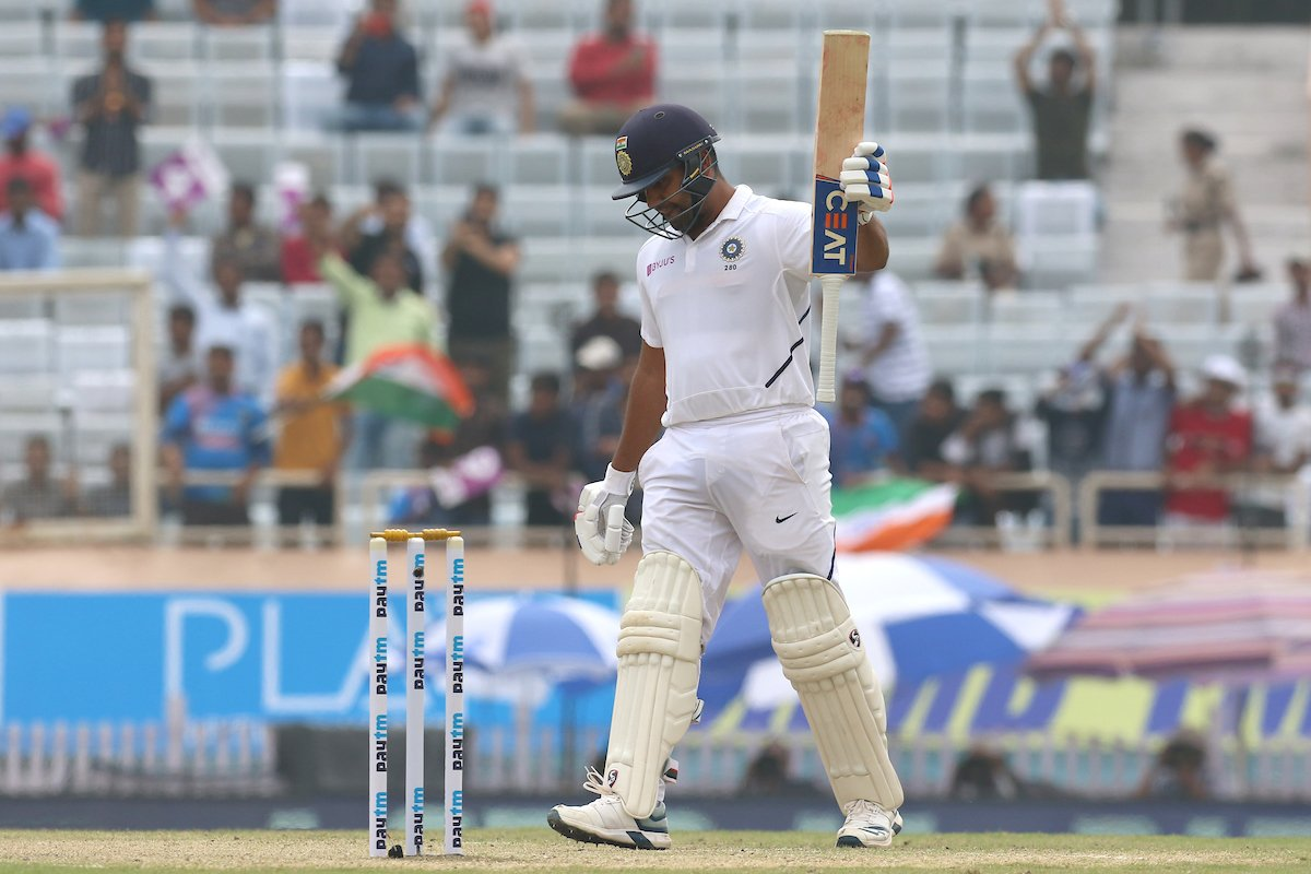 Sixth Test  for Rohit Sharma - 'The Run Machine'    - 195/3  PC: BCCI  #INDvSA #TeamIndia #KorboLorboJeetbo <br>http://pic.twitter.com/CRqXJAtEqf