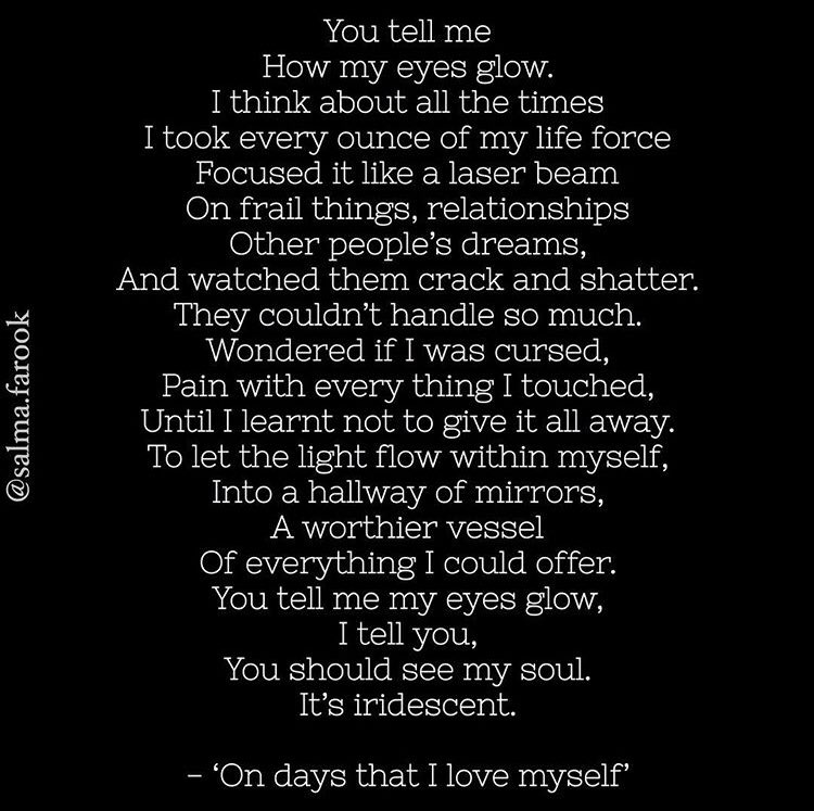 'On days that I love myself'  #WritingCommunity #poetry #selflove