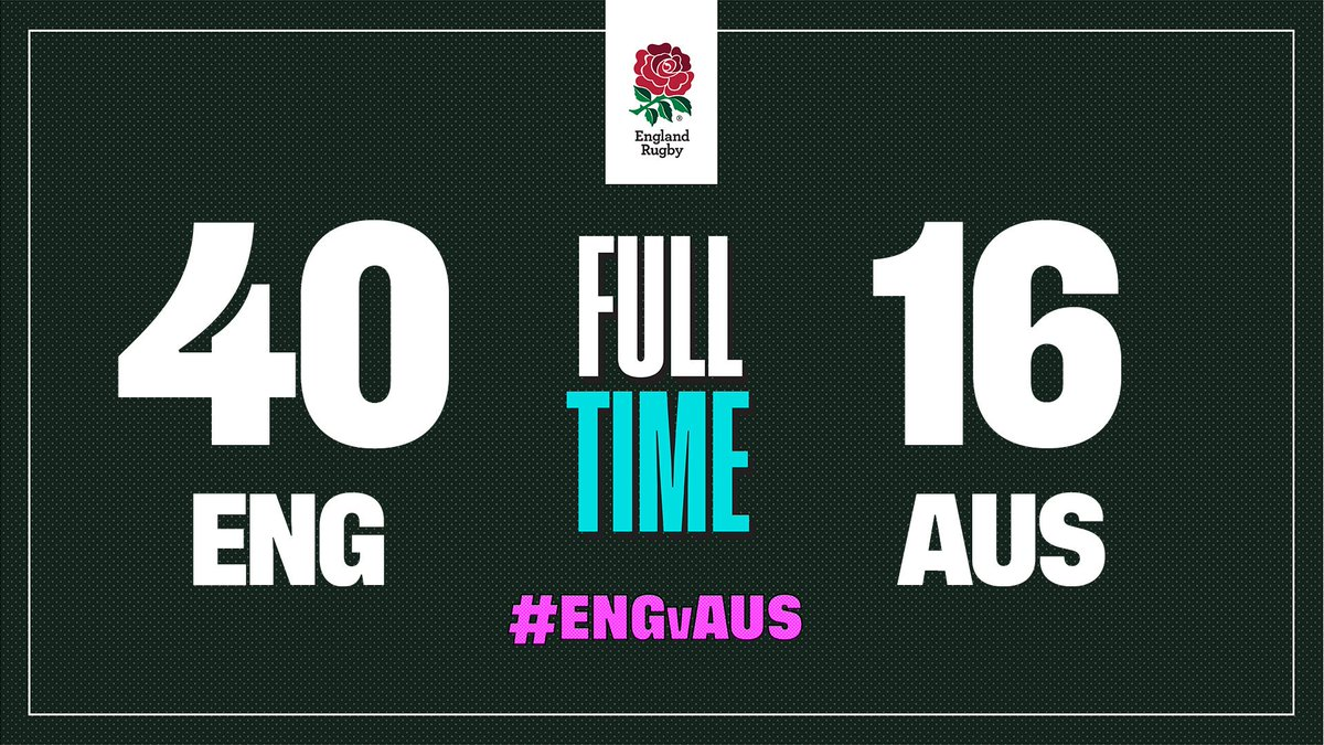 It's full time in Oita and England are into the @rugbyworldcup semi-final 🌹  #RWC2019 #CarryThemHome