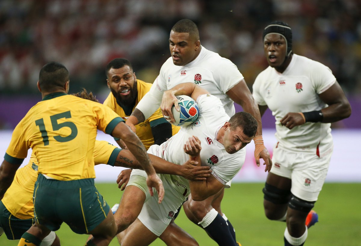 England powered through to book their spot in the #RWC2019 semi-finals. They beat Australia 40-16 in a thriller in Oita. They will face either Ireland or New Zealand next weekend. #ENGvAUS