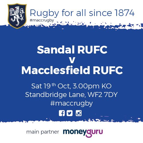 test Twitter Media - Good luck to our firsts this afternoon in their game against Sandal RUFC! Sponsored by @MoneyGuruKnows  #MaccRugby 🏉 https://t.co/TLLMc0xwAa