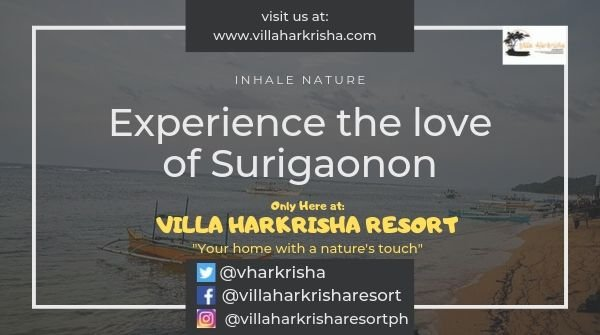Experience the love that you've never felt before. The authentic love the Surigaonon can give you. You can only have it if you travel the wonders of Surigao especially Socorro, Surigao del Norte, the home of Sohoton cove and jellyfish sanctuary. #VillaHarkrishaResort #TravelGoals