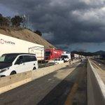 Image for the Tweet beginning: Aturats a l'A9 direcció Perpinyà,