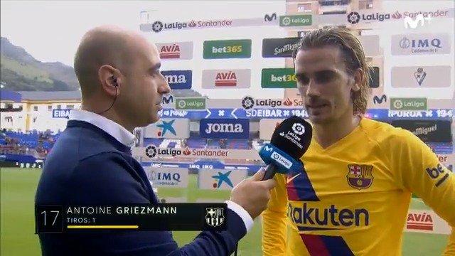 ¿Qué tal Antoine, cómo estás? Griezmann: Estoy tieso. #LaCasaDelFútbol