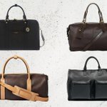 Image for the Tweet beginning: 10 leather overnight bags that