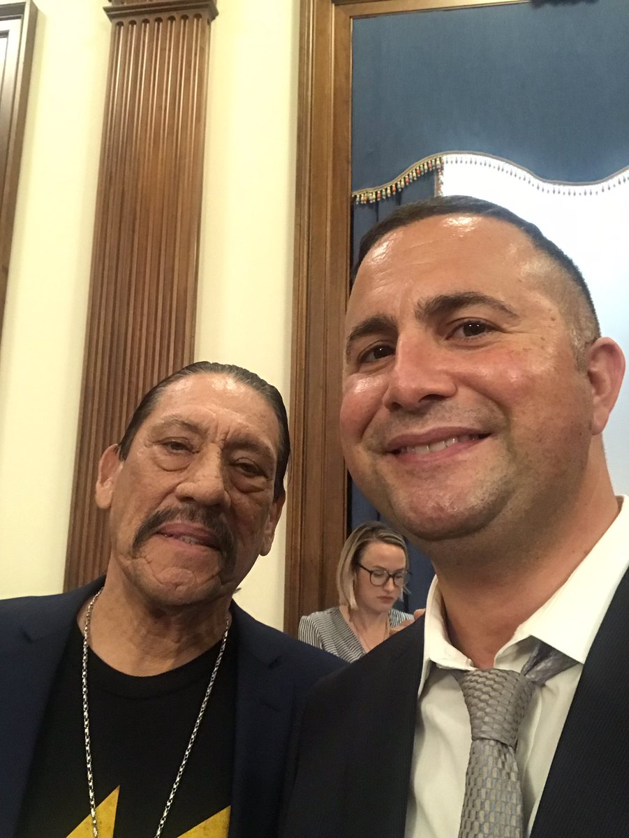Only thing cooler than recognizing #HispanicHeritageMonth is celebrating it with Hollywood tough guy Danny Trejos! pic.twitter.com/YDwnQZk4nU
