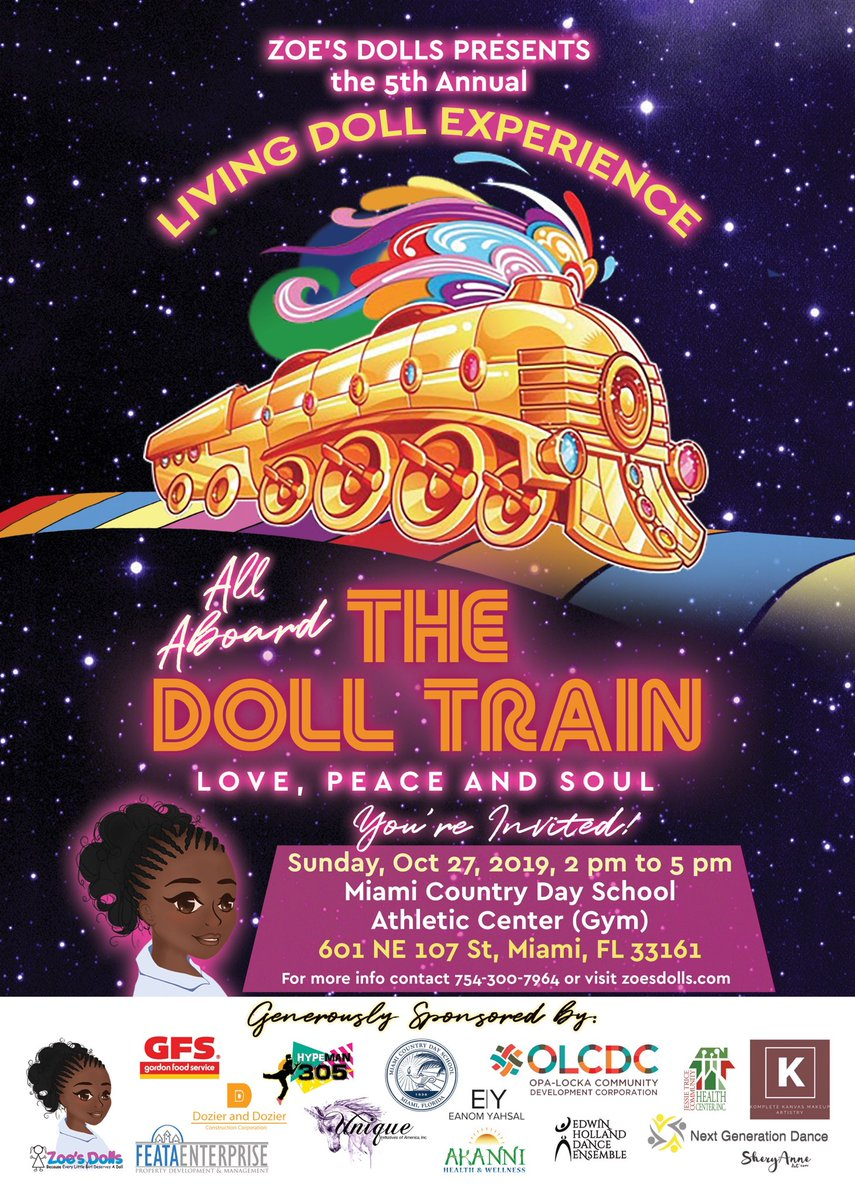 I will be there! Proud of our student Zoe T, founder of Zoe's Dolls @OfficialMCDS