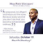 [CALENDAR] #DailyMotivation from Wes Moore. #HPU365