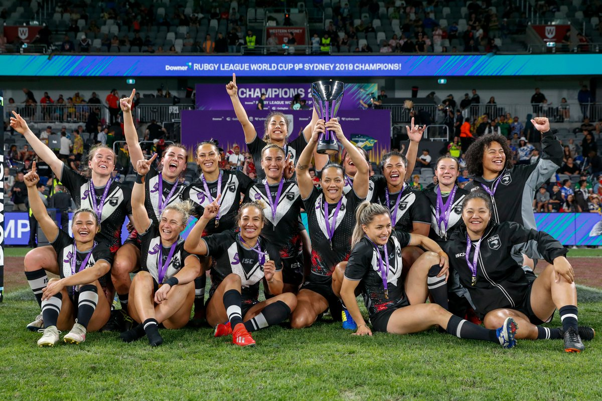 The Kiwi Ferns are your Rugby League World Cup 9s Champions! #TheKiwiWay @PhotosportNZ<br>http://pic.twitter.com/fn3r4QXM3Q