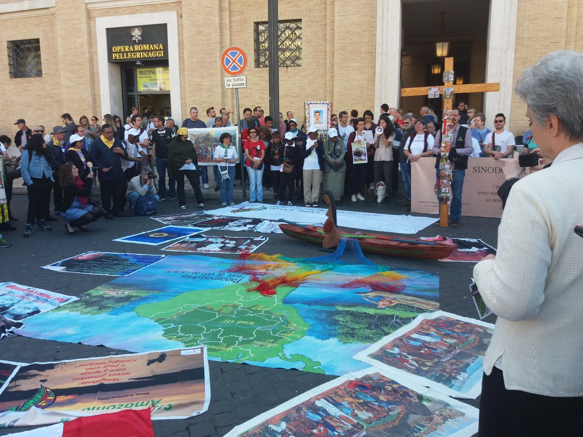 """Stations of the Cross"" in Rome during the #AmazonSynod -"