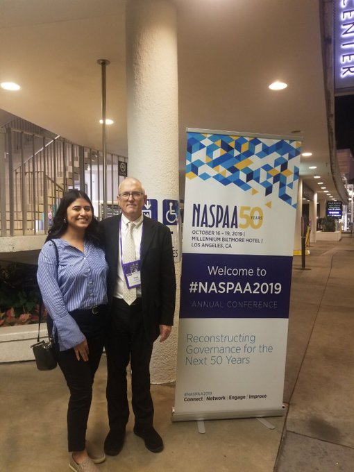 Fabiola Bachinelo, MPA 19' and Professor Mark Robbins at NASPAA